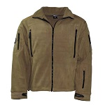 "MFH Fleece-Jacke, ""Heavy-Strike"", Coyote Brown - Gr. L"