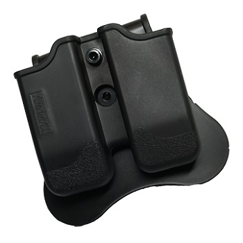 "Amomax Paddle Double Magazine Pouch ""Universal"" - Black"