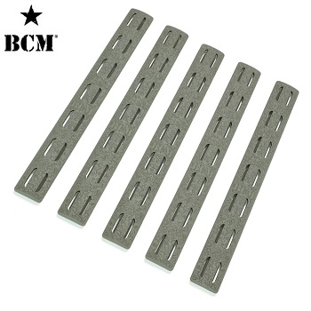 BCM ® Low Profile KeyMod Rail Panel Covers (5er Pack) - Foliage Green