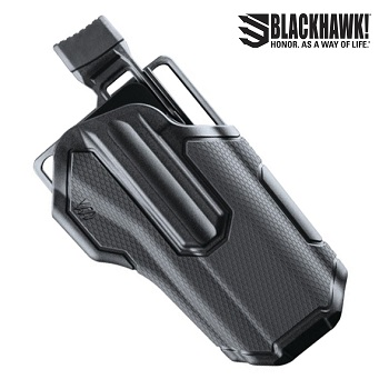 BLACKHAWK! ® Omnivore™ Non Light Bearing Level 2 MultiFit Gürtelholster , rechts - Black