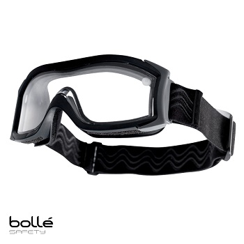 "Bollé ® X1000 Tactical Goggle ""Dual Lens"", Black - Clear"