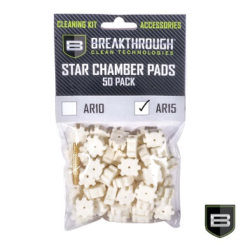 Breakthrough ® AR15 Star Chamber Cleaning Pads für AR-15 / M4 (50er Pack)