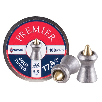 Crosman Gold Tipped Premier Diabolos 5.5mm - 100rnd