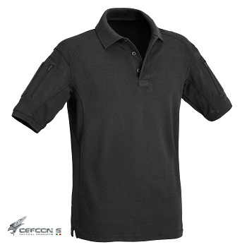 Defcon 5 ® Tactical Polo Shirt, Black - Gr. L