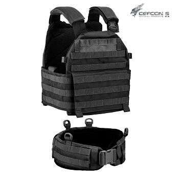 Defcon 5 ® Molle Plate Carrier Vest & Belt - Black