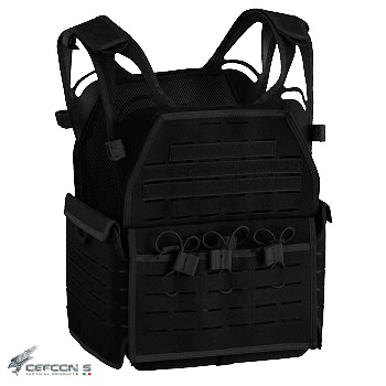 "Defcon 5 ® ""Laser Cut"" Molle Plate Carrier - Black"