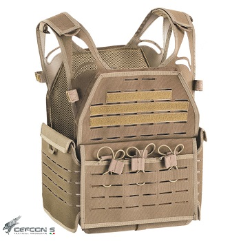 "Defcon 5 ® ""Laser Cut"" Molle Plate Carrier - Coyote Brown"