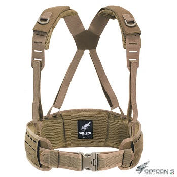 "Defcon 5 ® ""Laser Cut"" Molle Belt, Coyote Brown - S/M"