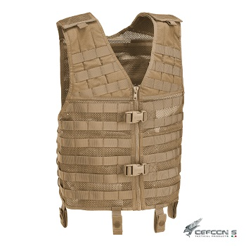 Defcon 5 ® Tactical MOLLE Vest - Coyote Brown