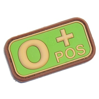 "Defcon 5 ® Blood-Type PVC-Patch ""0, POS"" - MultiCam"