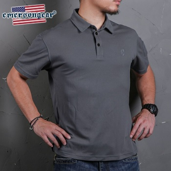 "Emerson Polo Shirt ""Wolf Grey"" - Gr. S"