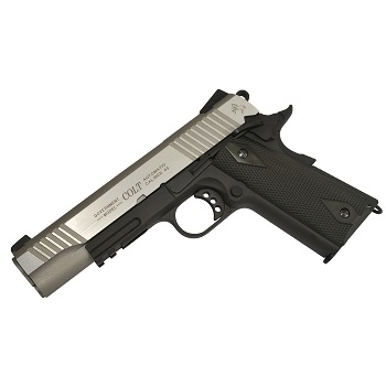 KWC x Colt 1911 Rail Gun ® Co² BlowBack - Stainless DualTone
