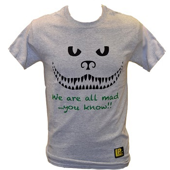 "La Patcheria ® T-Shirt ""We Are All Mad...you know"", Grey - Gr. L"