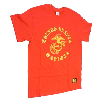 "La Patcheria ® T-Shirt ""U.S.M.C."", Red - Gr. S"