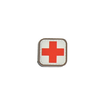 "MSM ® Medic Square 1"" PVC Patch - Full Color"