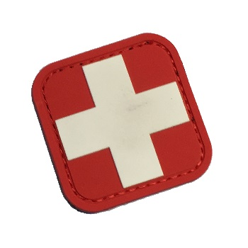 "MSM ® Swiss Flag Square 2"" PVC Patch - Full Color"