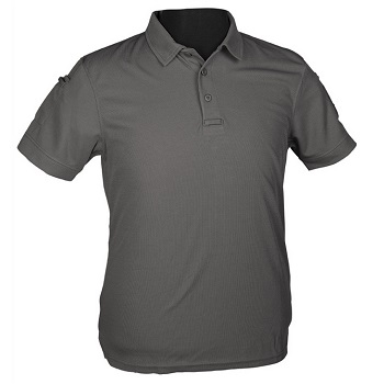 Mil-Tec Tactical Quick Dry Polo Shirt, Urban Grey - Gr. M