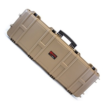 Nuprol Large Hard Case (Wave Foam) Gewehrkoffer - Desert