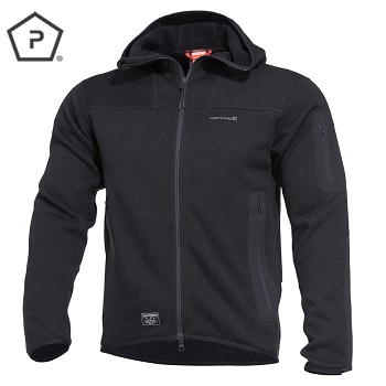 "Pentagon ® Tactical Sweater / Fleece Jacke ""Falcon"", Black - Gr. S"