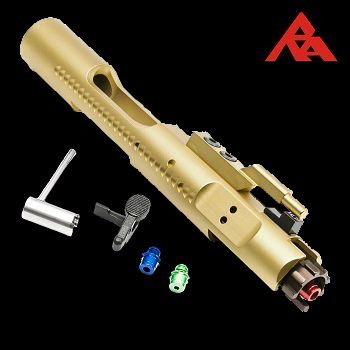 RA-Tech CNC Complete Bolt Carrier (Magnetic Locking NPAS) für WE M4/M16/HK416 Serie - Gold