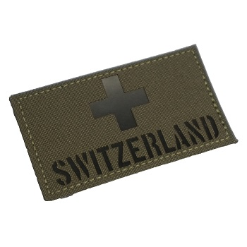 "RayWorx ® ""Flag Frontpatch - Switzerland"" IR Patch - Ranger Green"