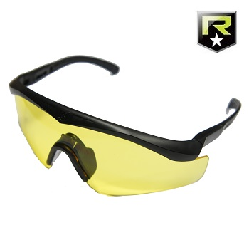 "Revision ® Sawfly Max-Wrap MilSpec Ballistic Googles ""Basic"", Black - Yellow"