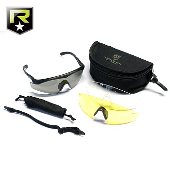 "Revision ® Sawfly Max-Wrap MilSpec Ballistic Googles ""Deluxe"", Black - Clear/Smoke/Yellow"