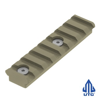 "Leapers ® UTG ""KeyMod"" Rail Section (8 Slots) - Flat Dark Earth"