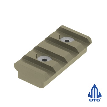 "Leapers ® UTG ""KeyMod"" Rail Section (4 Slots) - Flat Dark Earth"