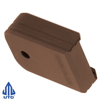 "Leapers ® UTG PRO +0 Magazine Base Pad ""Glock Small Frame"" - Matte Bronze"