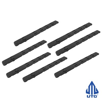 Leapers ® UTG Low Profile KeyMod Rail Panel Covers (7 Slots) - Black (7er Pack)