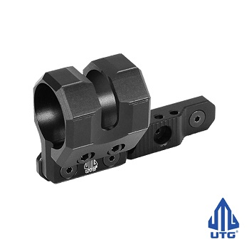 "Leapers ® UTG OffSet ""M-LOK"" Flashlight Mount (Ø 27, 25 & 20 mm) - Black"
