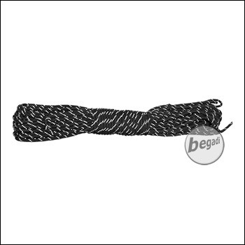"BE-X Paracord ""reflective"" (550lbs), 30m - Schwarz"